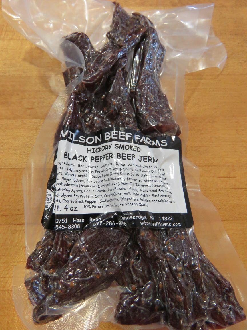 Black Pepper Beef Jerky 1 4 Lb Package Wilson Beef Farms