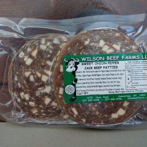 Wilson Beef Farms | Sweet Onion Pepperjack Patties