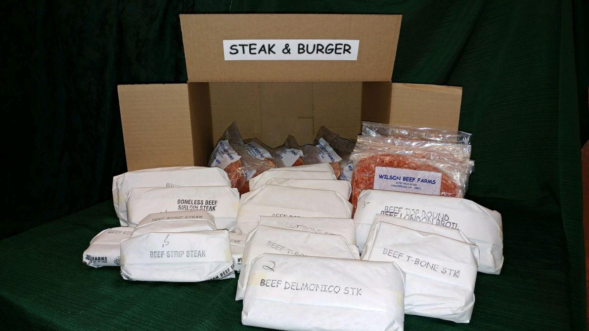 Steak Amp Burger Box 25 Lbs Wilson Beef Farms