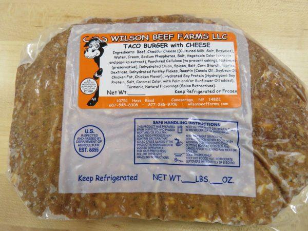 Wilson Beef Farms Taco Burger