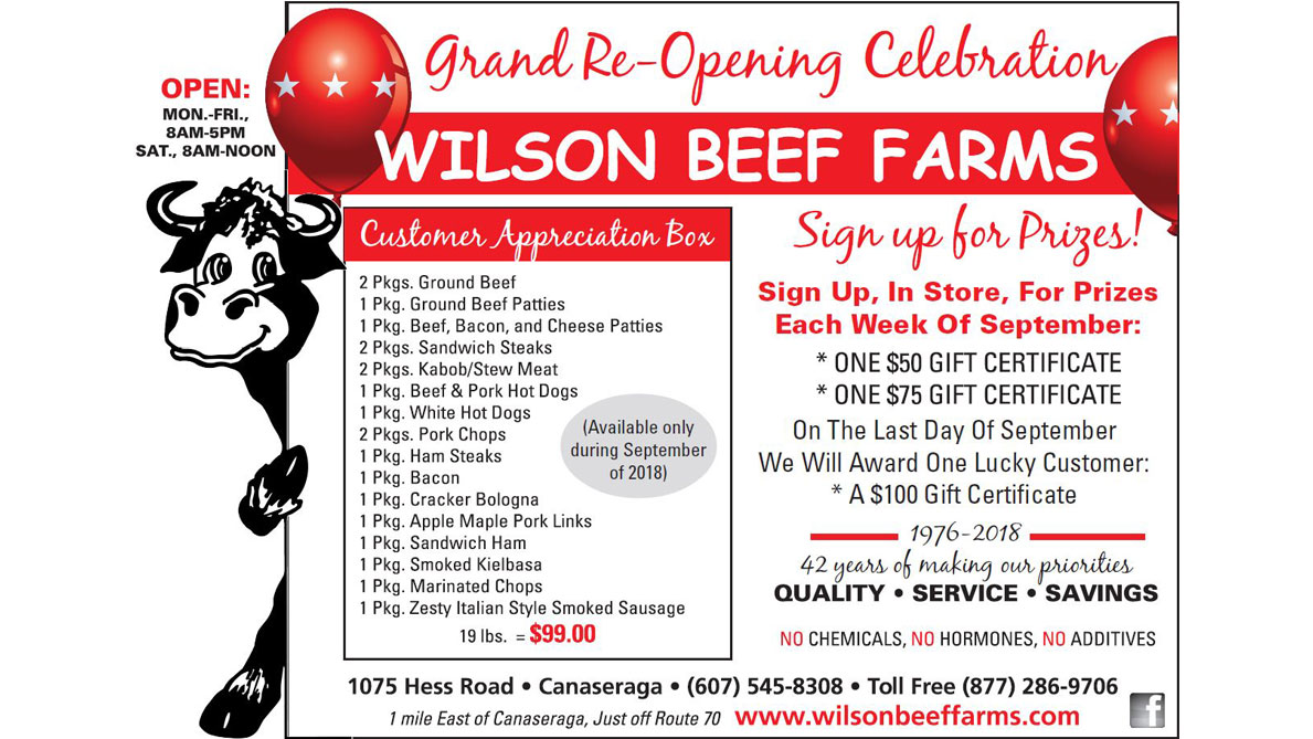 Wilson Beef Farms Grand Re-Opening Celebration